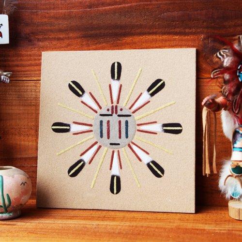画像クリックで大きく確認できます Click↓1: アメリカインディアン ナバホ族 サンドペイント 砂絵/Navajo Sandpainting