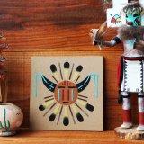サンドペイント 砂絵 ナバホ インディアン ハンドメイド/Americn Indian Navajo Sandpainting