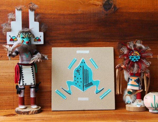 画像2: ナバホ インディアン ハンドメイド サンドペイント 砂絵/Americn Indian Navajo Sandpainting