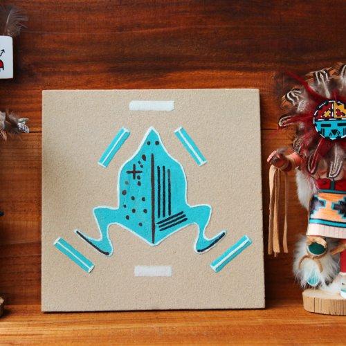 画像クリックで大きく確認できます Click↓1: ナバホ インディアン ハンドメイド サンドペイント 砂絵/Americn Indian Navajo Sandpainting