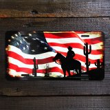 アメリカン カウボーイ ライセンスプレート/License Plate Amercan Cowboy