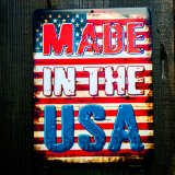 MADE IN THE USA 星条旗 メタルサイン/Metal Sign American Flag