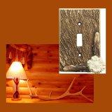 鹿の角 スイッチプレート アメリカ 仕様品 1口/Electrical Cover(Single)