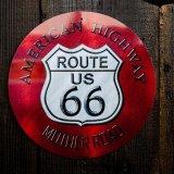 ルート66 アメリカン ハイウェイ メタルサイン/Metal Sign Route 66 AMERICAN HIGHWAY
