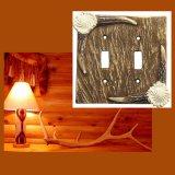鹿の角 スイッチプレート アメリカ 仕様品 2口/Electrical Cover(Double)