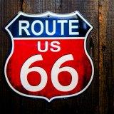 アメリカン ハイウェイ ルート66 メタルサイン/Metal Sign Route 66