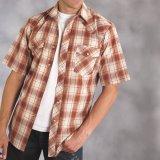 ローパー ウエスタンシャツ (ブラウン/半袖)XL/Roper Short Sleeve Western Shirt