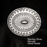 ナバホ スターリング シルバー ハンドメイド ベルト バックル/Navajo Handmade Belt Buckle