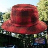 ペンドルトン バケット ハット(レッド・バーガンディー)/Pendleton Plaid Bucket Hat