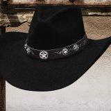 ファイブスター ウール カウボーイ ハット(ブラック)/Western Wool Felt Hat(Black)
