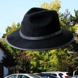 クラッシャシャブル アウトバック ウール ハット(ブラック)/Crushable&Water-Repellent Wool Hat