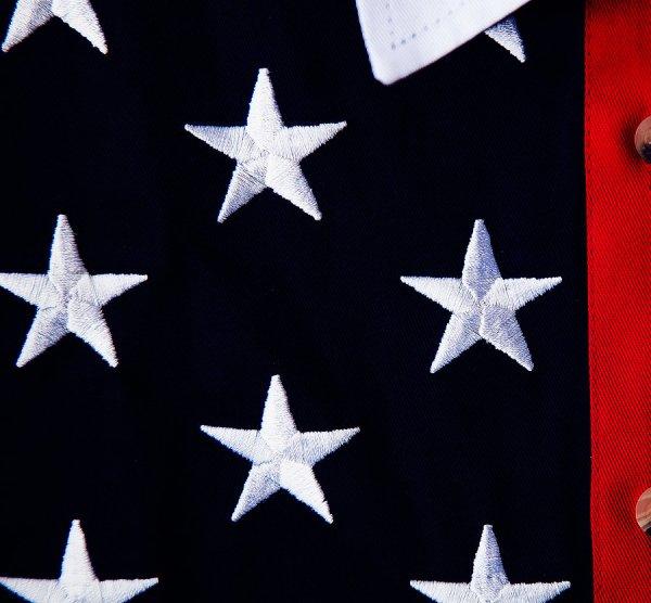 画像2: スカリー 刺繍スター☆ USA アメリカ国旗 シャツ(半袖/アメリカンフラッグ)/Scully Western Shirt(Women's)