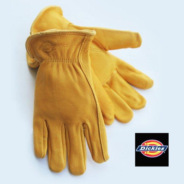 画像1: ディッキーズ ディアスキン グローブ(鹿皮手袋・裏地なし)M/Dickies Genuine Deerskin Leather Gloves(Pine Yellow)