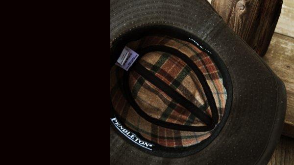 画像2: ペンドルトン ウールラインド ワックスコットンハット(ブラウン・レンジャープラッド)M/Pendleton Wax Cotton Outback Hat with Ranger Plaid Lining