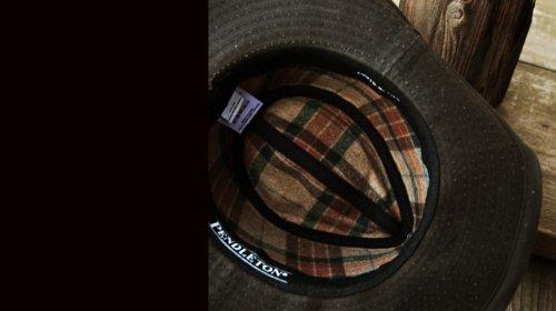画像クリックで大きく確認できます Click↓2: ペンドルトン ウールラインド ワックスコットンハット(ブラウン・レンジャープラッド)M/Pendleton Wax Cotton Outback Hat with Ranger Plaid Lining