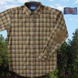 ペンドルトン ウール シャツ・エルボーパッチ フィッテッド トレイルシャツ ブロンズ・チャコールオンブレM/Pendleton Fitted Trail Shirt (Bronze Charcoal Ombre)