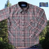 ペンドルトン ウールシャツ ジャパンフィット ガイドシャツ・アウトドアシャツ グレー・ホワイト・レッド 日本サイズL/Pendleton Guide Shirt