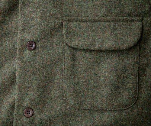 画像クリックで大きく確認できます Click↓2: ペンドルトン ウールシャツ ボードシャツ ピートモスヘザーXS/Pendleton Board Shirt(Peat Moss Heather)
