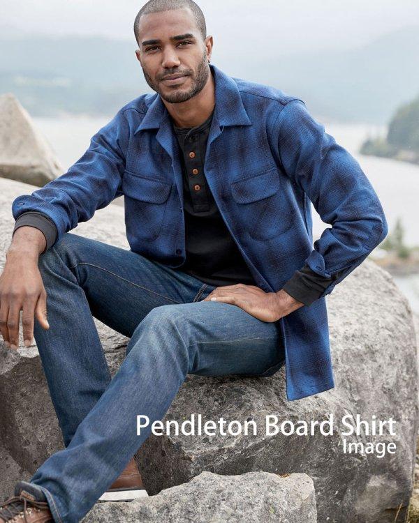 画像4: ペンドルトン ウールシャツ ボードシャツ ブループラッド/Pendleton Board Shirt