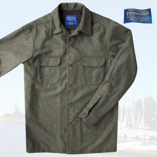 画像クリックで大きく確認できます Click↓1: ペンドルトン ウールシャツ ボードシャツ ピートモスヘザーXS/Pendleton Board Shirt(Peat Moss Heather)