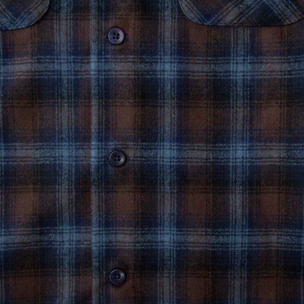 画像2: ペンドルトン ウールシャツ ボードシャツ ブルー・アクア シャドウ プラッドXS/Pendleton Board Shirt(Blue/Aqua Shadow Plaid)