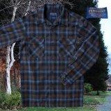 ペンドルトン ウールシャツ ボードシャツ ブルー・アクア シャドウ プラッドXS/Pendleton Board Shirt(Blue/Aqua Shadow Plaid)
