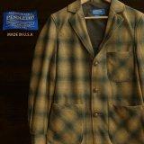 ペンドルトン バージン ウール ジャケット ブロンズ・チャコール オンブレ フィッテッドM/Pendleton Virgin Wool Jacket(Bronze Charcoal Ombre)