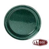 ジーエスアイ ほうろう ディナープレート(フォレストグリーン)/GSI Enamelware Dinner Plate(Forest Green)