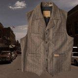 パンハンドルスリム パウダーリバー ツイードストライプ ウールベスト(ブラウン)/Panhandle Slim Wool Vest(Brown)
