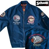 ショット NYC MA-1 フライト ジャケット(ネイビー)/Schott NYC MA-1 Commemorative Flight Jacket(Navy)