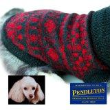 ペンドルトン ドッグ セーター(犬の服)レッド・ブラックS/Pendleton Dog Sweater(Red/Black)