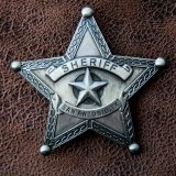 ウエスタン バッジ シェリフ・保安官バッジ サンアントニオ テキサス/SAN ANTONIO,TX.