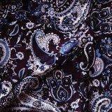 カウボーイ 大判スカーフ ワイルドラグ ペイズリー ブルー/100% Silk Wild Rags(Paisley/Blue)