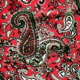 カウボーイ 大判スカーフ ワイルドラグ ペイズリー レッド/100% Silk Wild Rags(Paisley/Red)
