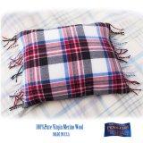 ペンドルトン フリンジ メリノウール&ダックフェザー ピロー アメリカーナプラッド/Pendleton Pillow(Americana Plaid)