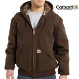 カーハート カモラインド アクティブ ジャケット(ダークブラウン)/Carhartt Camo Lined Active Jacket(Dark Brown)