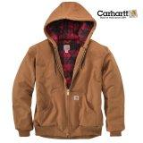 カーハート ダーククリムゾンプラッド ラインド アクティブ ジャケット(カーハートブラウン)/Carhartt Lined Active Jacket(Carhartt Brown)