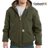 カーハート カモラインド アクティブ ジャケット(モス)M/Carhartt Camo Lined Active Jacket(Moss)