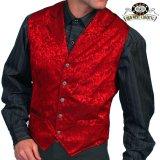 ワーメーカー シルク ベスト(フローラルレッド)/Wah Maker Old West Vest(Red)