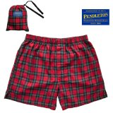 ペンドルトン ラウンジ ショーツ(レッド レノックスタータン)/Pendleton Flannel Lounge Shorts(Red Lennox Tartan)