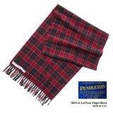 ペンドルトン ピュアバージンウール マフラー(レッド・グリーン・ホワイト)/Pendleton Pure Virgin Wool Muffler