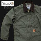 カーハート シェルパラインド サンドストーン リッジ コート(C61 アーミーグリーン)S/Carhartt Sherpa Lined Sandstone Ridge Coat(Army Green)