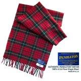 ペンドルトン ピュアバージンウール マフラー(ペンドルトン レッド タータン)/Pendleton Pure Virgin Wool Muffler(Pendleton Red Tartan)
