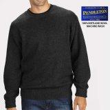 ペンドルトン シェトランド ウール セーター(ブラック ヘザー)S/Pendleton Shetland Wool Sweater Black Heather