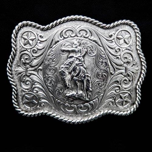 画像クリックで大きく確認できます Click↓1: モンタナシルバースミス ウエスタン ベルト バックル サドル ブロンコ/Montana Silversmiths Western Belt Buckle Saddle Bronc