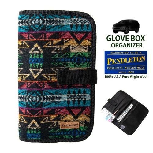 画像クリックで大きく確認できます Click↓1: ペンドルトン グローブボックス オーガナイザー(ブラック ミニ ブラックホース)/Pendleton Glove Box Organizer(Black Mini Blackhorse)