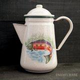 フィッシュ ほうろう ポット(レインボートラウト)/Enamelware Coffee Pot(RainbowTrout)