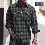 ペンドルトン ウエスタンシャツ(ブラック チャコール)/Pendleton Western Shirt(Black Charcoal Shadow Plaid)