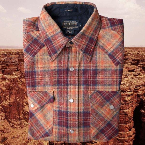 画像2: ペンドルトン ウエスタンシャツ(サンセットプラッド)S/Pendleton Western Shirt