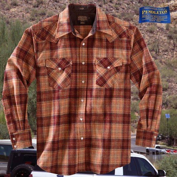 画像1: ペンドルトン ウエスタンシャツ(サンセットプラッド)S/Pendleton Western Shirt